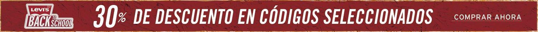 30% de descuento Levis en códigos seleccionados
