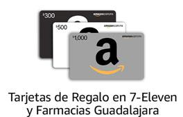 Tarjetas de Regalo en 7-Eleven y Farmacias Guadalajara