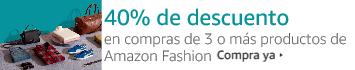 40% de descuento en la compra de 3 o más productos de Amazon Fashion