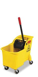 16-32-Ounce Capacity Blue Rubbermaid Commercial FG757588BLUE Down Press Wringer for WaveBrake Buckets