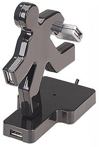 b87d277c77f MANHATTAN Hub USB 4 puertos figura de Hombre Corriendo 161626
