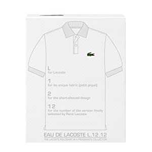 Lacoste L.12 Eau de Toilette Spray para Hombre, Blanco, 3.3 Oz 100 ... a67d45625a