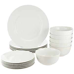AmazonBasics 18-Piece Dinnerware Set