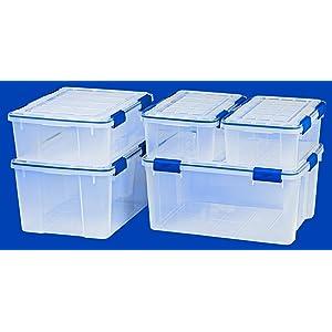 IRIS USA 4 Piece Ziploc Weathertight Storage Boxes
