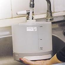 tanque, aqgua, depósitom vapor, planchado,plancha, desarrugar