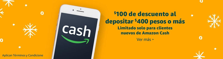 $100 de descuento para clientes de nuevos con Amazon Cash