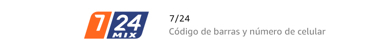 7/24 | Código de barras y número de celular