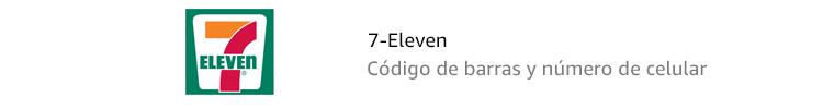 7-Eleven | Código de barras y número de celular
