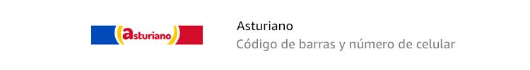 Asturiano | Código de barras y número de celular
