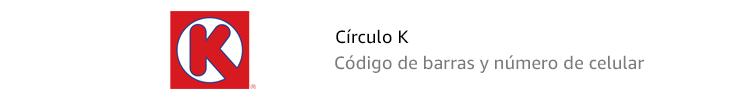 Círculo K | Código de barras y número de celular