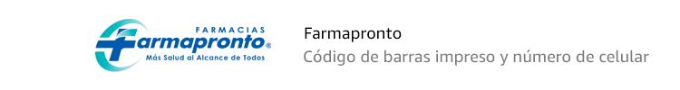 Farmapronto | Código de barras impreso y número de celular
