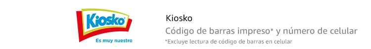 Kiosko | Código de barras impreso* y número de celular