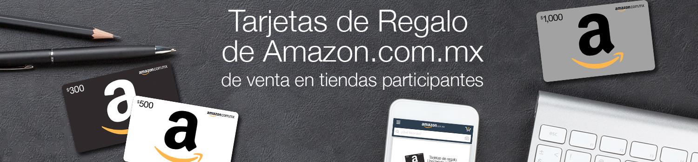Tarjetas de Regalo de Amazon.com.mx de venta en tiendas participantes