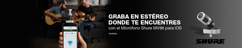 Micrófono Shure MV88 para iOS
