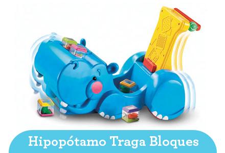 Hipopótamo andador traga bloques