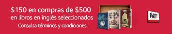 $150 por $500 en libros en inglés seleccionados