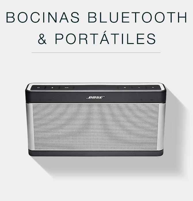 Bocinas bluetooth y portátiles