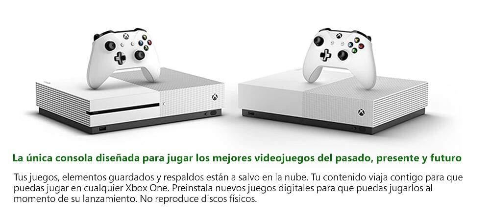 All Digital vs Xbox One S