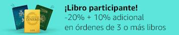 20% de descuento más 10% adicional en órdenes de 3 o más libros participantes