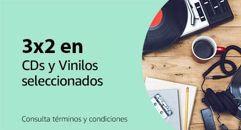 3x2 en CDs y Vinilos