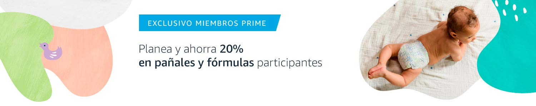 Miembros Prime: Planea y ahorra 20% en pañales y fórmulas participantes