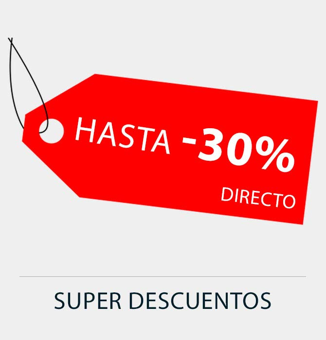 Hasta 30% de descuento directo