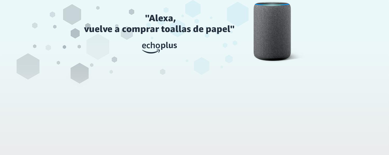 Alexa, vuelve a comprar toallas de papel | echo plus