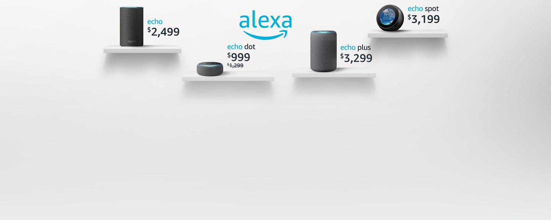 Familia Alexa | Echo | Echo Dot | Echo Plus | Show Spot