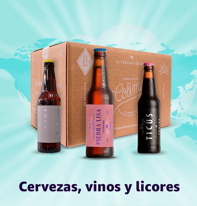 Cervezas vinos y licores