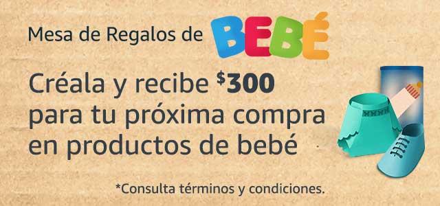 Crea tu mesa de regalos de bebé y recibe 300 pesos