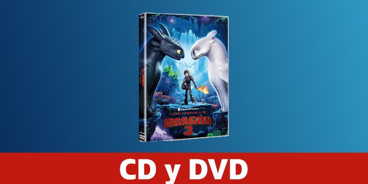 DVD y CD Dragons 3
