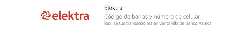 Elektra | Código de barras y número de celular
