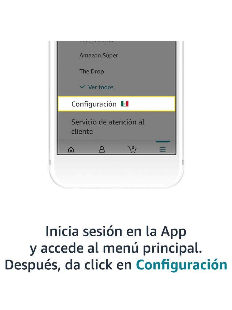 Inicia sesión en la App y da click en Configuración