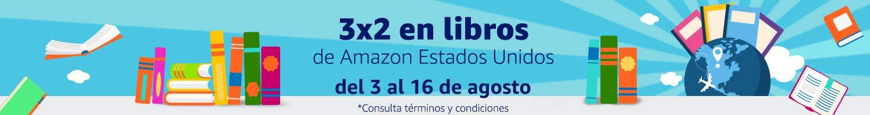 3x2 en libros de Amazon Estados Unidos