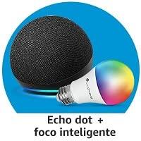 Echo Dot + Foco Inteligente