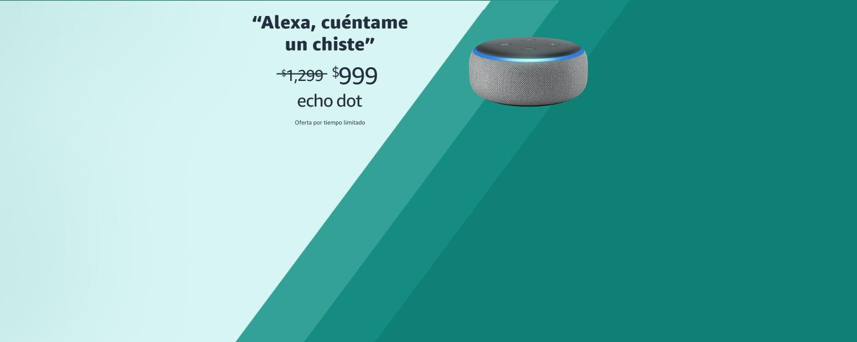 Alexa, cuéntame un chsite | Echo Dot | $999
