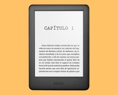 Kindle sobre un fondo amarillo