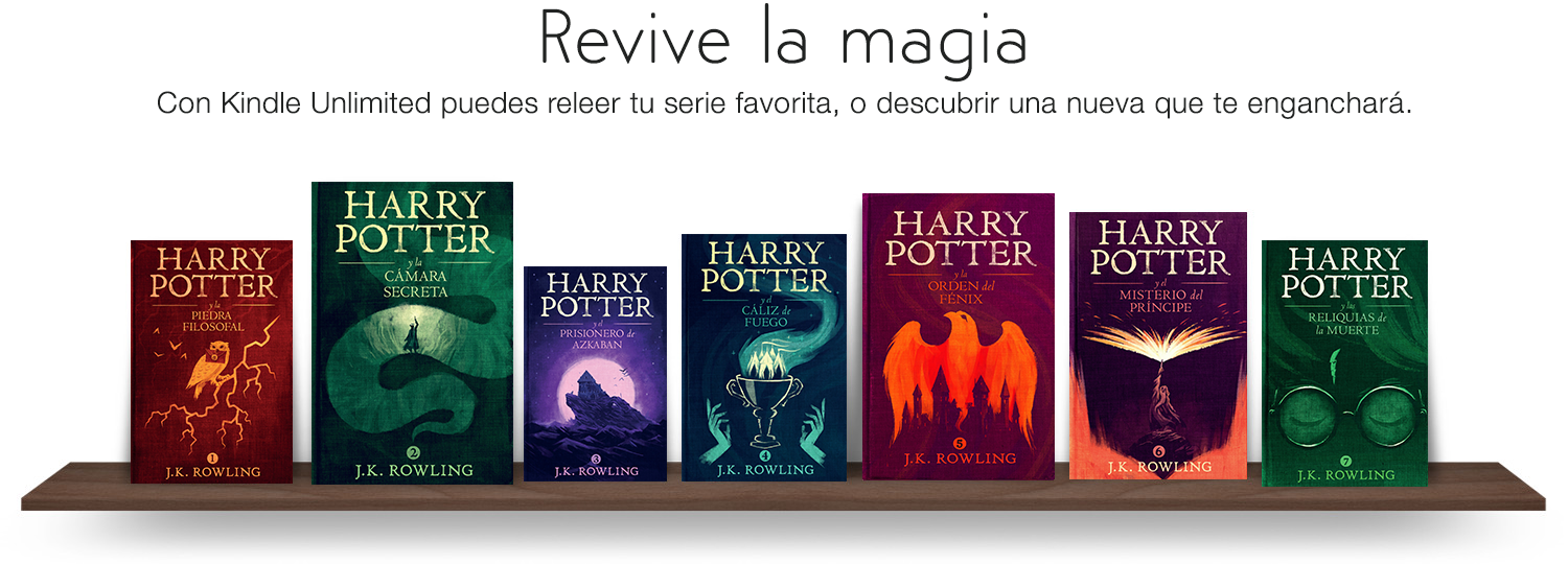 Revive la magia: Con Kindle Unlimited puedes releer tu serie favorita, o descubrir una nueva que to enganchara.