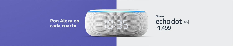 Echo Dot con reloj | Pon Alexa en cada cuarto