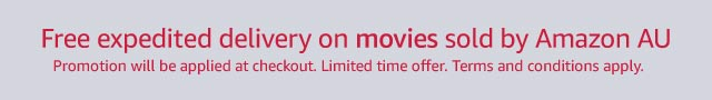 Free expedited delivery on movies sold by Amazon AU