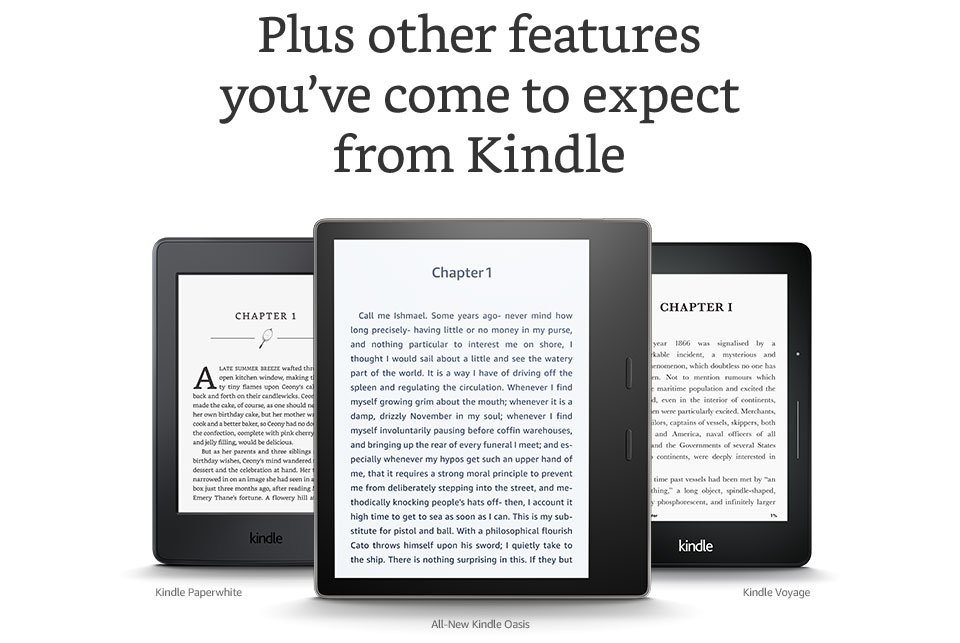 Kindle Oasis E-reader (Previous Generation), Waterproof, 7