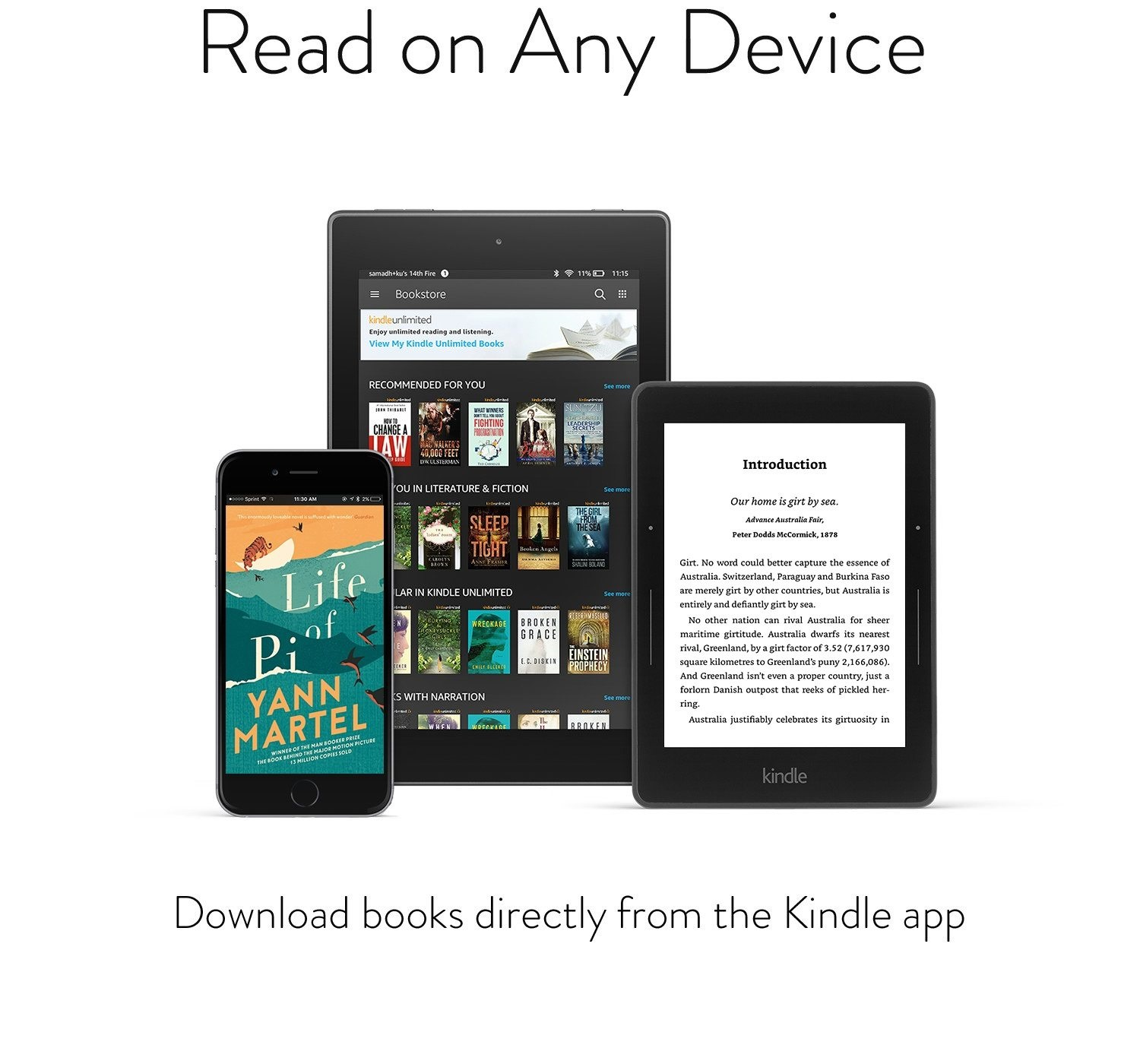 Download books directly from the Kindle app - You don't need to own a Kindle device to enjoy Kindle Unlimited. With our free Kindle reading apps, you can download Kindle Unlimited books anywhere, anytime and keep up to 10 books at a time on your device.