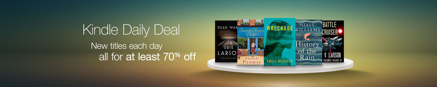 Kindle Daily Deal - at least 70% off eBooks