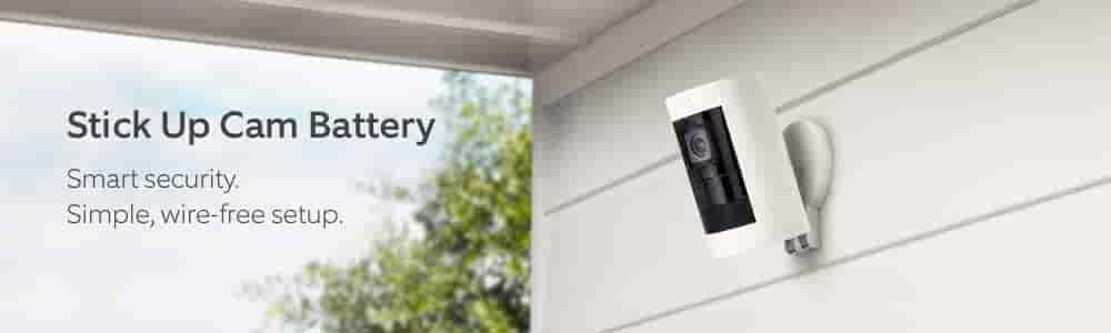 Stick Up Cam Battery. Smart security. Simple, wire-free setup..