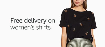 Free delivery on women's shirts