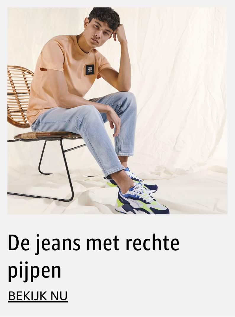 De jeans met rechte pijpen voor heren