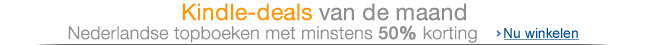 Kindle-deals van de maand: goedkoop Nederlandse ebooks, vanaf 50% korting.