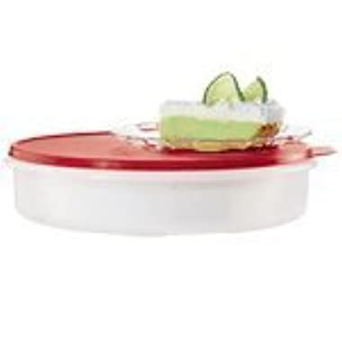 Tupperware 12  Large Pie Carrier Clear with Red Seal
