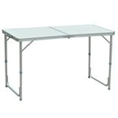 Outsunny Aluminum Camping Folding Camp Table with Carrying Handle, 47-Inch x 23.5-Inch