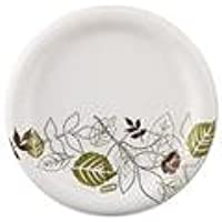 Dixie UX9WS Pathways Mediumweight Paper Plates, 8. 5 inch , WiseSize, Green-Burgundy, 500-Carton